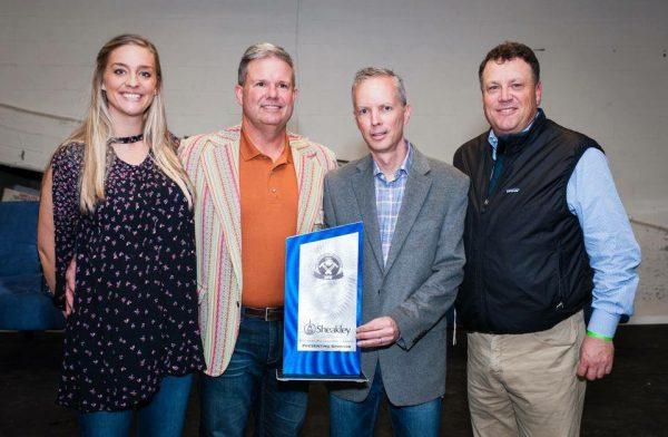 Image of Sheakley presents Brewers Philanthropy Award 2016 with Matt Sheakley Jeff Andrews Amanda Hagerty