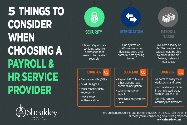 Infographic 5 Things to Consider When Choosing a Payroll Provider