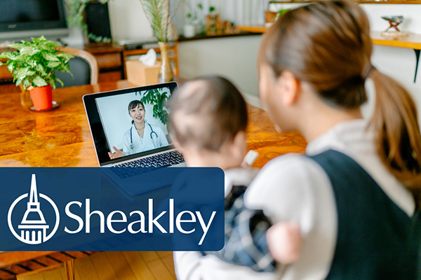 Mother and child utilize telehealth for their doctors appointment