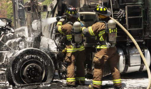 Commercial Truck Fire Safety